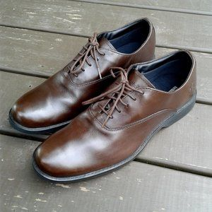 Timberland men oxford brown leather shoes size 10M